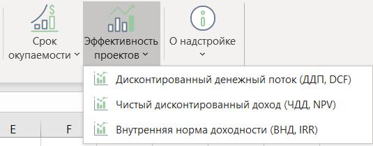 Срок окупаемости, ЧДД в Excel